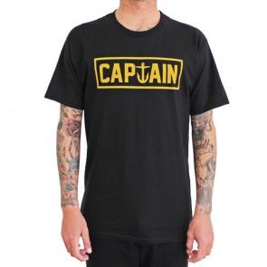 Captain Fin - Naval Captain Standard Tee Black