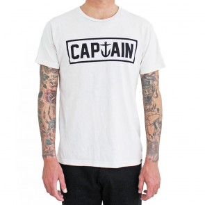 Captain Fin - Naval II Prem Tee White Mineral