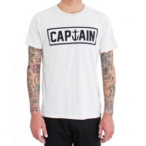 Captain Fin - Naval II Prem Tee White Mineral