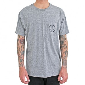 Captain Fin - Helm Pocket Tee Heather Grey