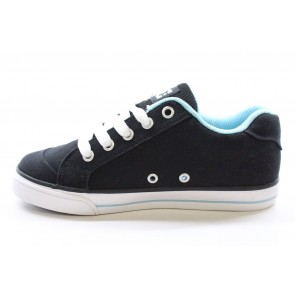 DC - Girl's Chelsea TX Black/White/Blue Shoes