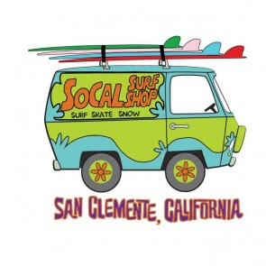 SoCal Surf Shop -  SoCal Surf Shop Van Sticker