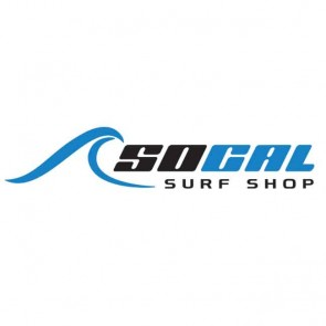 "SoCal Surf Shop - SoCal Surf Shop logo 7"" Sticker Black/Clear"