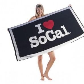 I Love SoCal Beach Towel