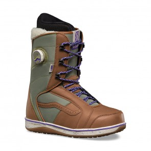 Vans - Women's Ferra Snowboard Boot HANA BEAMAN BROWN/ANGORA
