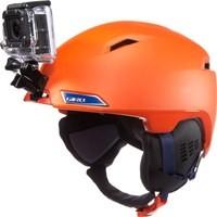 Snowboarder with helmet